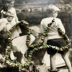 Vintage unikite stone necklace 😘❤️